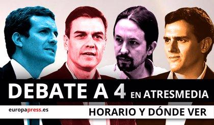 Horario y dónde ver el debate a cuatro de Atresmedia para el 28A