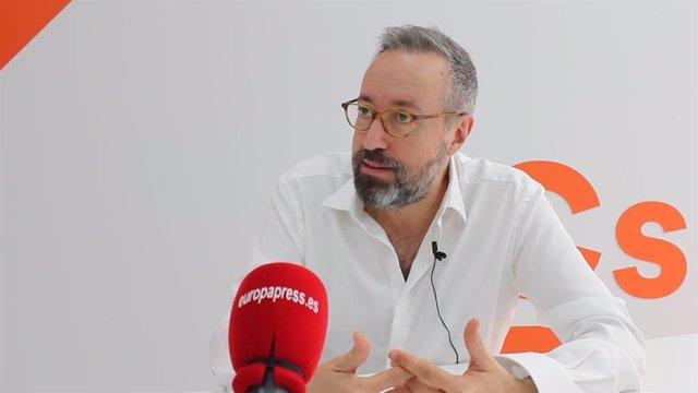 """VÍDEO:Girauta reivindica su proyecto """"patriota"""" para España y rechaza que las ideas de Cs nazcan de tacticismo electoral"""