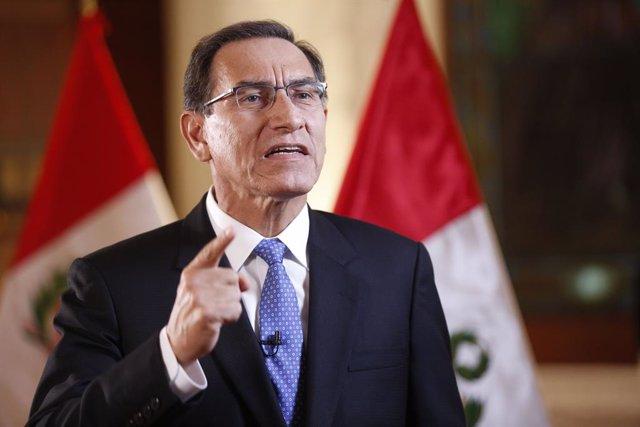"""Perú.- Vizcarra apela a la """"unidad"""" de los peruanos tras el suicidio de Alan García"""