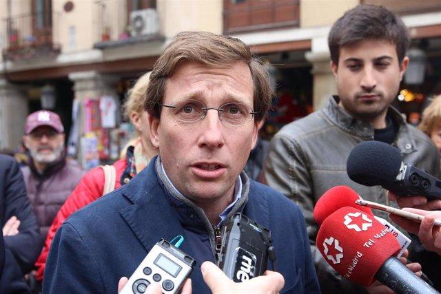 Candidatos del Partido Popular a la Presidencia de la Comunidad de Madrid y a la Alcaldía de Madrid atienden a los medios de comunicación en Madrid