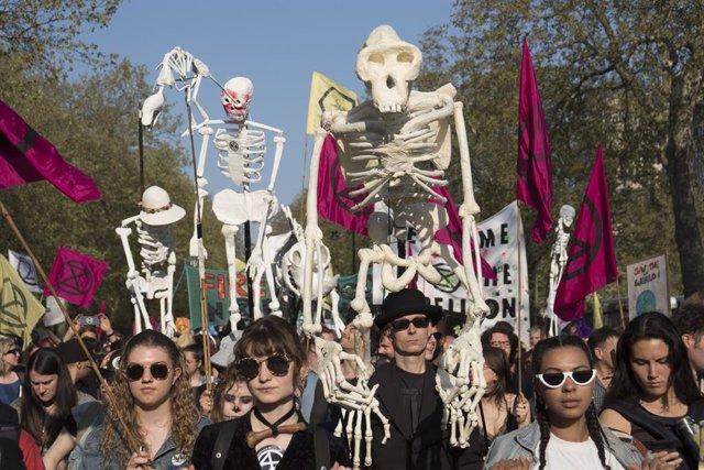 Extinction Rebellion protest against Climate Crisi