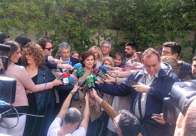 """28A.- Calvo dice que Pedro Sánchez va al debate """"con la tranquilidad"""" de haber dado soluciones a España """"cada viernes"""""""