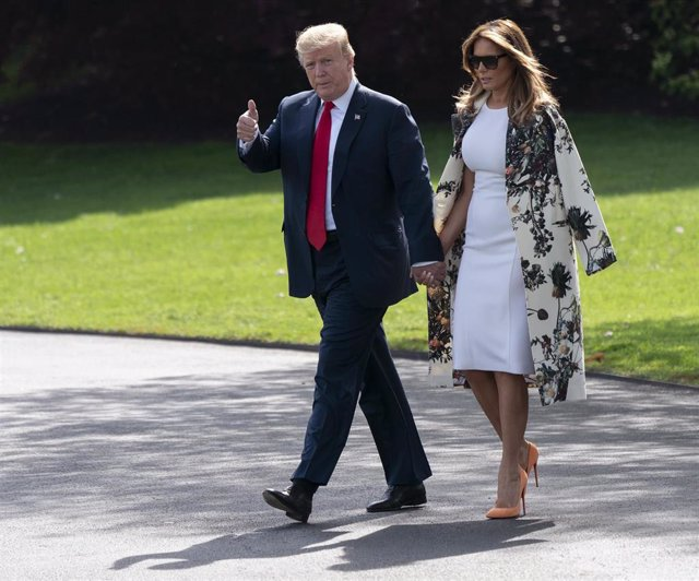 Trump and First lady Melania depart for Easter at Mar-A-Lago