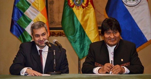 Bolivia/Paraguay.- Morales felicita a Abdo Benítez en el primer aniversario de su triunfo electoral