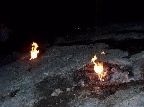 Explicación geofísica al metano que produce las 'llamas eternas'