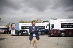 HAZTE OIR PONE A CIRCULAR TRES AUTOBUSES CONTRA PP, PSOE Y CIUDADANOS