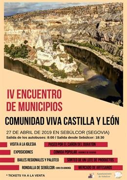 Sebúlcor (Segovia) celebra el sábado el IV Encuentro de Municipios Comunidad Viva Castilla y León
