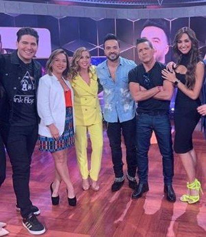 Así fue el reencuentro de Luis Fonsi con su exesposa Adamari López en un programa de televisión