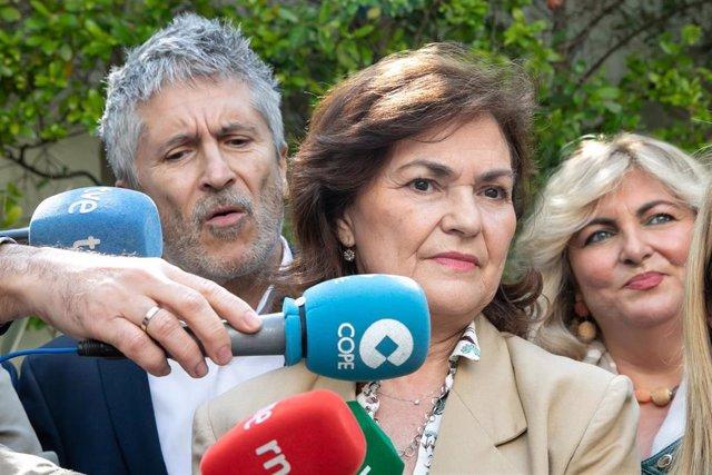 Carmen Calvo y Fernando Grande-Marlaska visitan Jerez de la Frontera