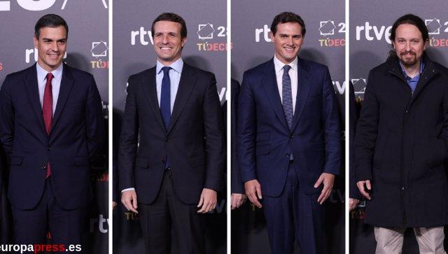 RTVE organiza el debate electoral a cuatro en el que participan los dirigentes de PSOE, PP, Podemos y Ciudadanos