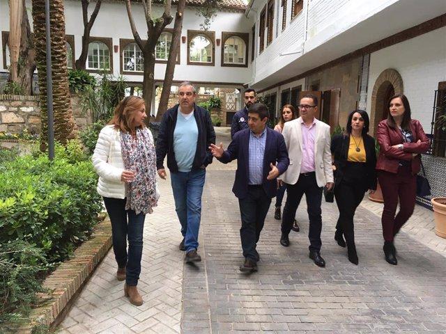 Jaén.- MásJaén.- El presidente de la Diputación visita las instalaciones del Balneario San Andrés de Canena