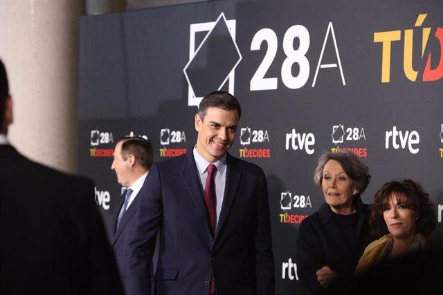 Pedro Sánchez en el debate a cuatro