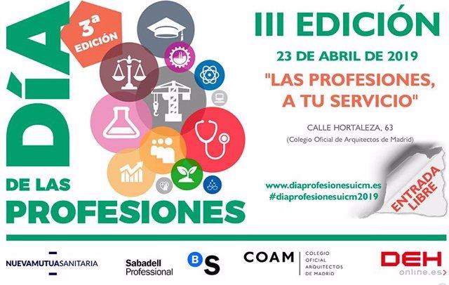 Colegios profesionales celebran el día 23 el Día de las Profesiones para analiza