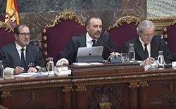 Es reprèn la vista del procés amb testimonis de Vox, entre els quals està citat Aragonès, que ha demanat ser eximit (SEÑAL DE TV DEL TRIBUNAL SUPREMO)