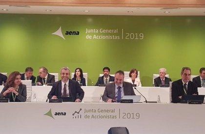 Aena abona hoy un dividendo de 6,93 euros con cargo a 2018 al que destinará 1.039 millones