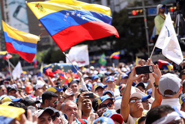 Manifestación en Caracas contra el Gobierno de Nicolás Maduro