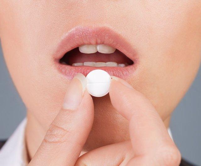 Píldora, mujer, pastilla