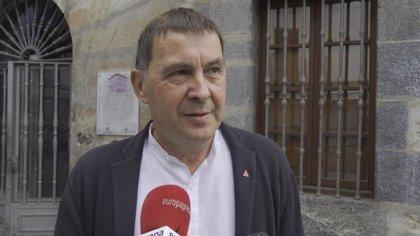"""Otegi cree que EH Bildu ganó el debate porque """"está en el tablero político y es el enemigo a abatir de las derechas"""""""