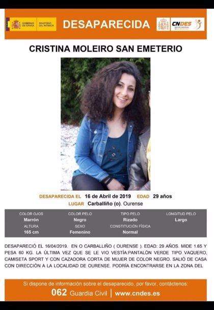 La Guardia Civil pide colaboración para localizar a una joven de O Carballiño desaparecida