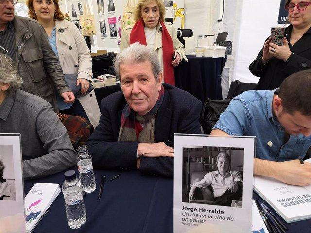 """Sant Jordi. - Jorge Herralde se siente """"exótico"""" en el día del escritor"""