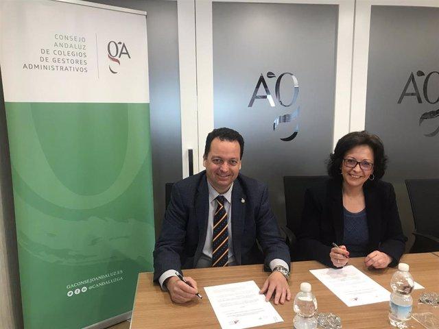 """UPTA-A firma un convenio para """"favorecer sinergias"""" con el Consejo Andaluz de Colegios de Gestores Administrativos"""