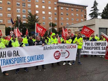 Trabajadores del transporte sanitario de C-LM retoman las movilizaciones antes de la huelga general del 22 y 23 de mayo