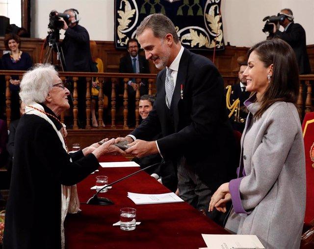 Acto de entrega del Premio Cervantes 2018 en el Paraninfo de la Universidad de Alcalá