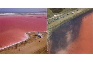 ¿Por qué el mar rosado de Galerazamba, en Colombia, está negro?