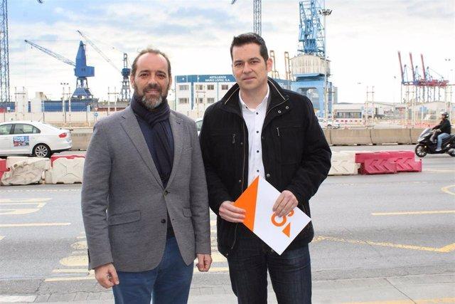 Juan Cassá y Alejandro Carballo, de Cs en el Ayuntamiento de Málaga