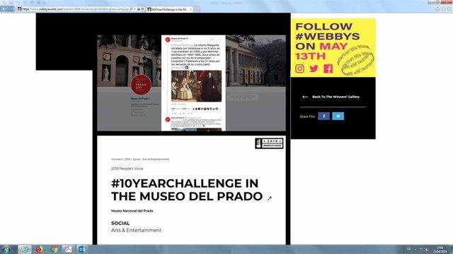 El '#10yearchallenge' del Museo del Prado gana el premio Webby