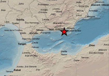 Registrado un terremoto de magnitud 3,2 con epicentro en La Mojonera (Almería)