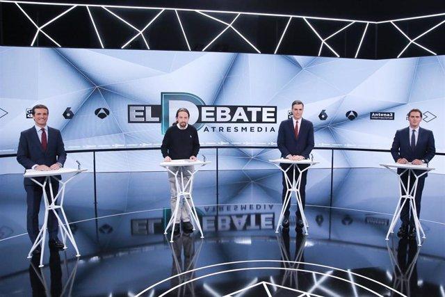28A.- El debate de Atresmedia obtuvo una cuota de pantalla del 45% en Asturias