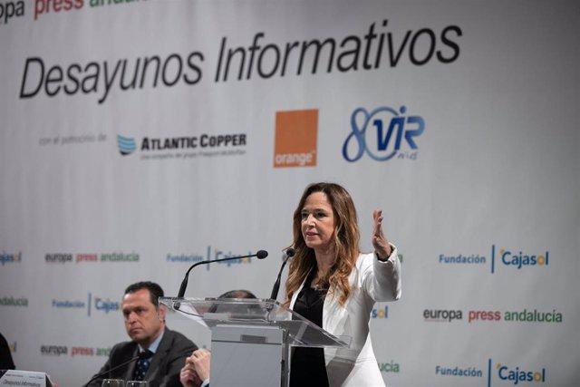 Desayunos informativos de Europa Press Andalucía. La cabeza de lista del PP al Congreso por la provincia, Teresa Jiménez-Becerril