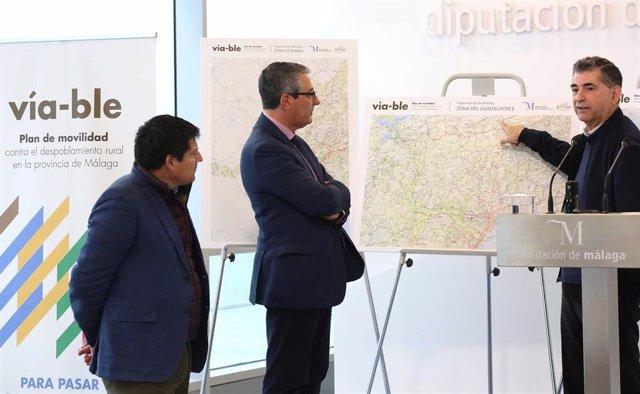 Málaga.-Diputación impulsa un plan pionero de conexión viaria de más de 40 pueblos pequeños a través de caminos rurales