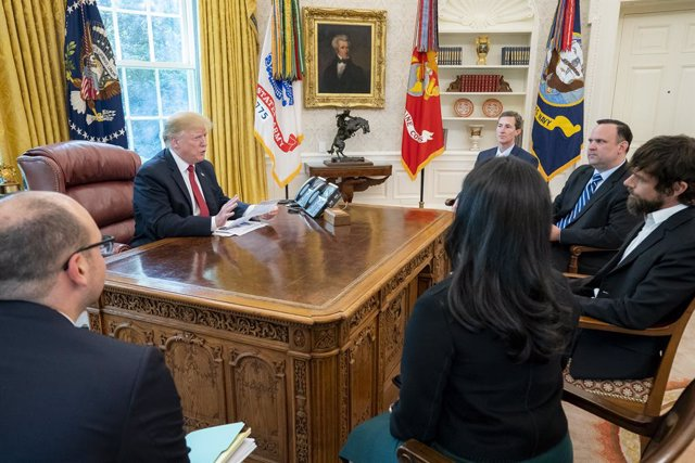President Trump Meets with Twitter CEO Jack Dorsey in Washington