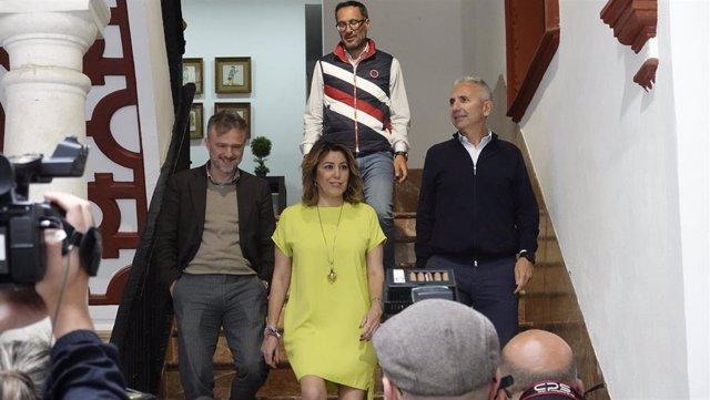 """28A.-Susana Díaz Augura Que PSOE Logrará En Torno Al Millón Y Medio De Votos: """"Nos Vamos A Quitar La Espinita Clavada"""""""