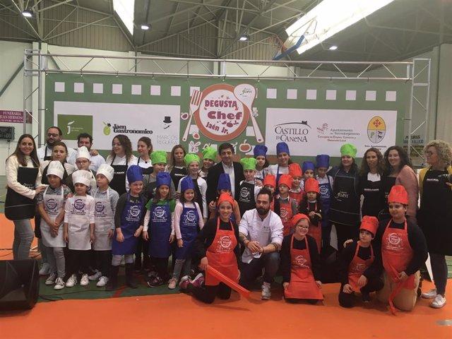 Jaén.- MásJaén.- Escolares del colegio Pedro Poveda de Jaén ganan el Concurso de Cocina Degusta Jaén en Primaria