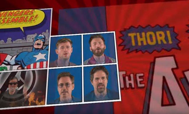 VÍDEO: El reparto de Vengadores canta un clásico de Billy Joel