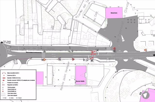 La Diputació de Barcelona reforça la seguretat dels vianants en La Gleva (Masies de Voltregà)