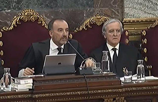 El juez Marchena durante el juicio al procés en el Supremo