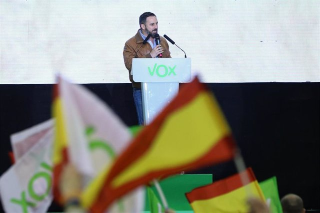 Acto de campaña de Vox en Madrid