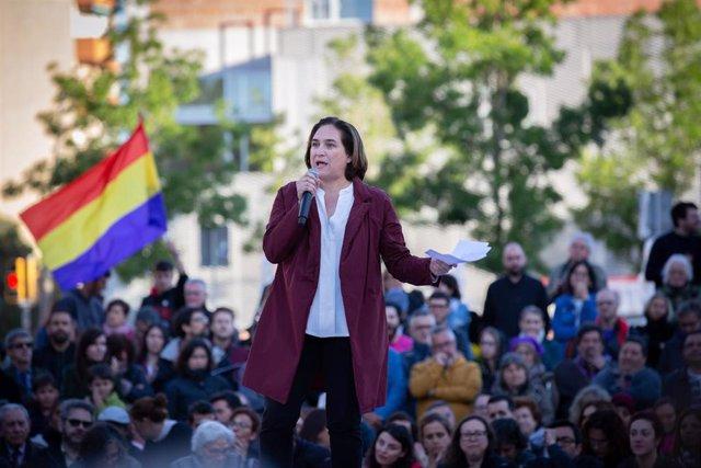 Acto de campaña de En Comú Podem en Barcelona