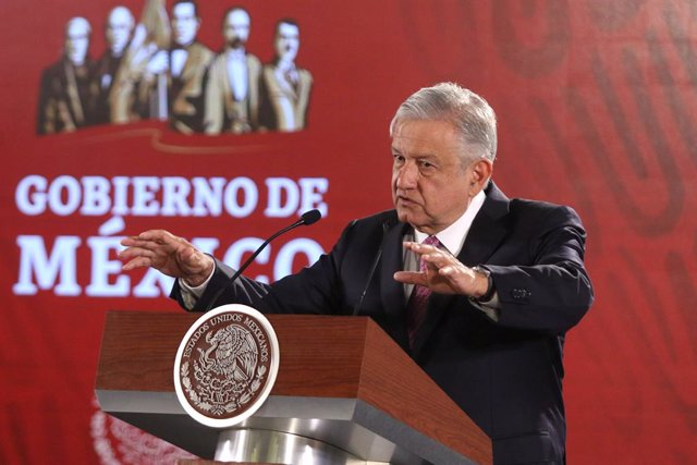 Mexican President daily presser in Mexico City