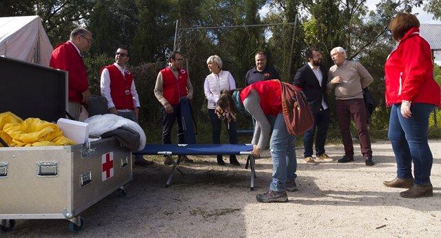 Cruz Roja Educación Para La Salud Recreación De Campo De Refugiados