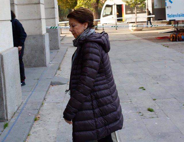 Magdalena Álvarez, antes de declarar en el juicio por el caso de los ERE