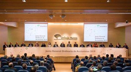 Accionistas de Unicaja aprueban el pago de un dividendo de 0,03 euros el 10 de mayo, un 76% superior