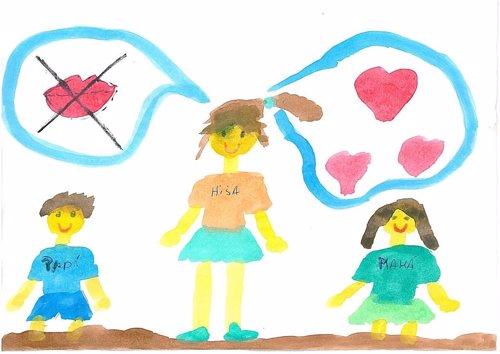 Los hijos de víctimas de malos tratos ilustran con dibujos la violencia que viven cada día