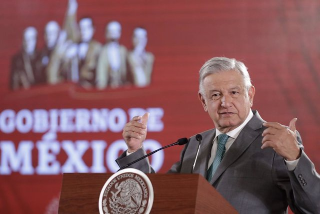Mexican President Obrador press conference in Mexico City