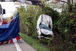 El conductor d'una furgoneta mor a l'N-II en sortir de la via a Bàscara (ACN)