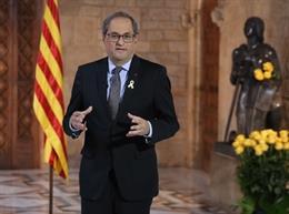 Torra recorda als presos del procés per Sant Jordi i demana a la comunitat internacional involucrar-se amb Catalunya